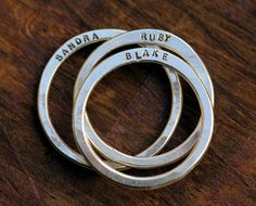 Family name rings/or when one parent is getting married, the new step parent can give to child...