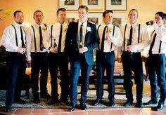 The Groom + Groomsmen (suspenders = love).