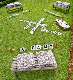 DIY yard scrable