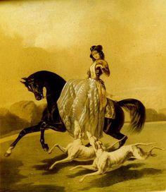 Amazone aux lévriers courants, Alfred de Dreux