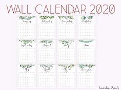 Botanical Calendar 2020, Kitchen Calendar 2020, Printable Wall Calendar 2020 Printable Calendar 2020, Print Calendar, Rachel Berry, Blog Planner, 2015 Planner, How To Start Yoga, Desk Calendars, Day Planners, Planner Organization