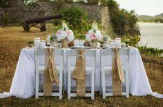 Rustic Chic wedding setting