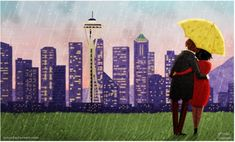 Going for walks-- rain or shine  artist Nidhi Chanani