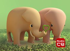 elephant couple in love | Flickr - Photo Sharing!