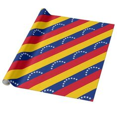 Shop Flag of Venezuela Wrapping Paper created by worldcuprugby. African American Flag, Venezuela Flag, Black Labs Dogs, Aesthetic Memes, Flags Of The World, 4th Of July Party, Custom Wrapping Paper, National Flag, Activities For Kids
