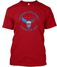 Spirit Of America Rally Deep Red T-Shirt Front