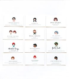illustrated notes & calling cards: miniature portraits on calling cards?  sounds great to me.