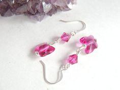 Swarovski Crystal Butterfly Earrings Bridal by AlwaysCrafty77, $12.00