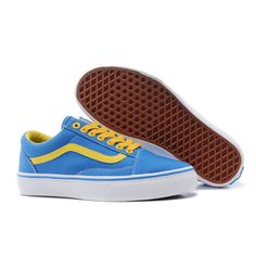 2ce80cc03f Vans Old Skool Shoes Womens Classic Canvas Sneakers Blue Girlhood