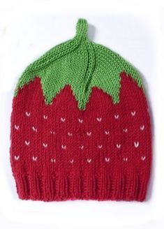 Baby Knitting Patterns For Kids free knitting pattern strawberry hat Crochet Pullover Pattern, Baby Cardigan Knitting Pattern Free, Baby Knitting Patterns, Free Knitting, Crochet Patterns, Hat Embroidery, Embroidery Patterns, Crochet Baby, Knit Crochet