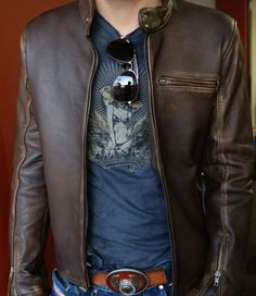 R79 Leather Jacket Distressed Brown - Basics - Men - Our Classic R79 Style Made with Soft 100 Lambskin
