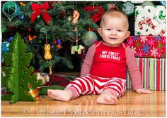 9 Month Old Christmas Portraits
