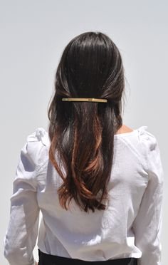 gold barrette by sylvain le hen.