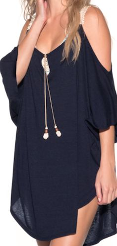 Obsessed with this navy blue cover up! 2019 Obsessed with this navy blue cover up! The post Obsessed with this navy blue cover up! Women's Summer Fashion, Look Fashion, Trendy Fashion, Womens Fashion, Gypsy Fashion, Beach Dresses, Trendy Dresses, Fashion Dresses, Fashion Clothes