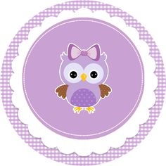 Convite Adesivo Quadrado Adesivo redondo Bala Personalizada Rótulo Bis (Frente) Co. Baby's First Birthday Gifts, Owl Birthday Parties, Baby Shower Cakes Neutral, Paper Box Template, Candy Bar Labels, Purple Owl, Diy Baby Gifts, Owl Crafts, Baby Shower Activities