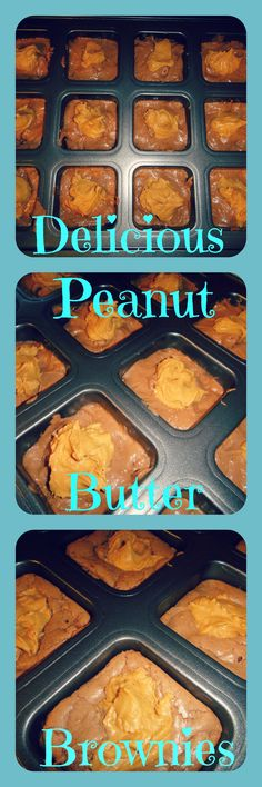 Peanut Butter Brownies with a Dab of Peanut Butter Perfect for the Pampered Chef Brownie Pan