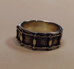 Snare Drum Ring by MarinelliCustomJewel on Etsy