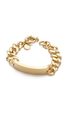 Marc by Marc Jacobs Standard Supply ID Bracelet; color: oro