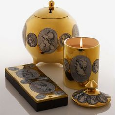 Fornasetti - Limited Edition Scented Candle - Cammei Oro