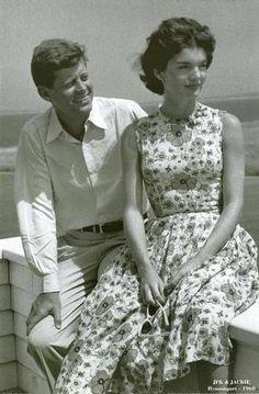 John F Kennedy & Jackie Kennedy. 1960.