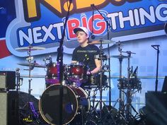 Haha Ryland on the drums. He probably took Ratliff's drum sticks then ran out on stage lol