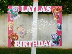 Paw Patrol Skye and Everest Birthday Personalized Paw Patrol Birthday Photo Prop These are such a hit at parties! You, your lil ones guests, and everyone of all ages will love to take pictures with this frame. It is one of a kind, designed by US! Nothing you will find at your local party store. *~*IMAGES MADE FROM WOOD*~*FRAME MADE FROM WOOD*~*IMAGES MADE FROM WOOD*~* **LAST IMAGE shows our Mickey Mouse frame. All frames are the same size, so you can get an idea of how large these frames…