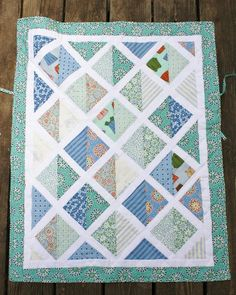 Sweet Pea and Pumkins: Car Seat Baby Quilt