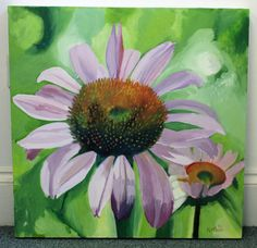 Echinacea 2011 acrylic on canvas by NickiMcleanPainter on Etsy
