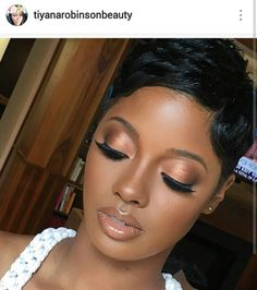 Melanin & Honey- Cee is known for delivering luxury makeup experiences f. - make-up - Dark Skin Makeup, Eye Makeup, Hair Makeup, Makeup Tips, Matte Makeup, Soft Makeup, Makeup Ideas, Black Natural Makeup, Natural Beauty