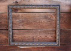 Espresso brown/oil rubbed bronze color shabby chic custom frame for TV set.