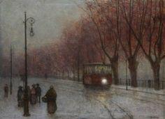A tramway in the embankment - Jakub Schikaneder (1855-1924)