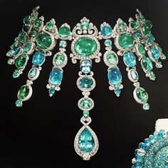 In love with this Angelica necklace by Giampiero Bodino.  #paraiba #emeralds