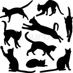 cat silhouettes and like OMG! get some yourself some pawtastic adorable cat apparel!