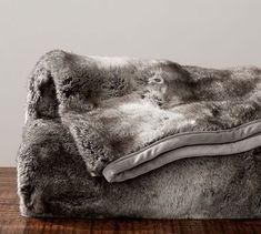 Faux Fur Throw - Gray Ombre #potterybarn