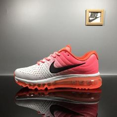 Nike Air Max 2017 Leather White Pink Black Logo Sports Shoes http://feedproxy.google.com/womengoshoes1