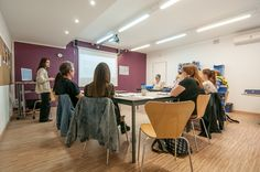 La clase. Oxford House Barcelona Classroom