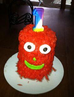 Monster smash cake for baby boy's 1st Birthday