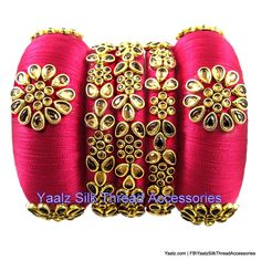 5 Artistic Cool Tips: Hand Bags Designer Jimmy Choo hand bags tote kate spade. Silk Thread Bangles Design, Silk Bangles, Silk Thread Earrings, Bridal Bangles, Thread Jewellery, Kundan Bangles, Beaded Jewelry, Handmade Jewelry Designs, Bangle Set