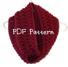 Twisted Infinity Crochet Scarf Pattern by PurpleBirdCrochet, $4.50