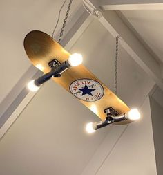 Custom made/painted skateboard light - Skateboard Furniture - Skater Girls