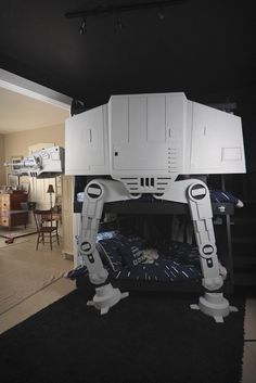 AT-AT Bunk bed... If I ever had twin boys they would have this