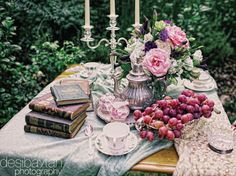 tea in the garden - an excuse for seeing friends