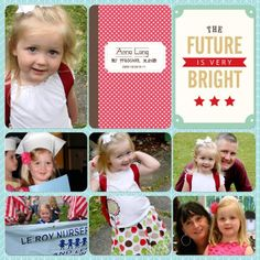 I can't wait to use the childhood mini kit for my daughter's school years! Layout by Creative Team Member Julie Long