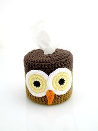 Toilet Paper Roll Cover Crochet Owl by EuniceNeedlecraft on Etsy