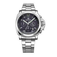 Men Top Brand Luxury Watches Clock Stainless Steel Quartz Wristwatches - Men's style, accessories, mens fashion trends 2020 Vintage Watches For Men, Luxury Watches For Men, Casual Watches, Stylish Watches, Rolex Datejust, Sport Watches, Men's Watches, Fashion Watches, Men's Fashion