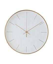 Francfranc(フランフラン)のアフィーレ ウォールクロック M ホワイト(掛け時計)