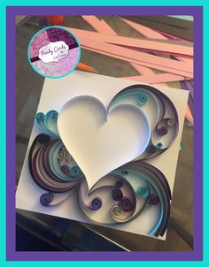 In progress beautiful wallbox quilling