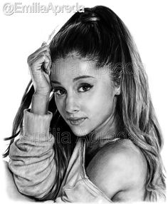 My Ariana Grande Drawing - Scanned and Edited ! this took me alotttt of hours ! maybe about 8/9 hrs x @ArianaGrande