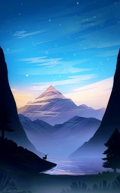 The art of animation more anime scenery wallpaper, drawing wallpaper, nature wallpaper, cartoon Fantasy Landscape, Landscape Art, Landscape Photography, Mountain Landscape, Mountain View, Landscape Tattoo, Winter Mountain, Landscape Architecture, Photography Tips