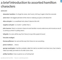 "a brief introduction to assorted hamilton characters granscare: "" alexander hamilton: if u forget his name, don't worry, he'll say it again in like five seconds aaron burr: the biggest plot twist of. Hamilton Burr, Hamilton Comics, Hercules Mulligan, Hamilton Fanart, Hamilton Lin Manuel Miranda, Aaron Burr, James Madison, Hamilton Musical, Alexander Hamilton"